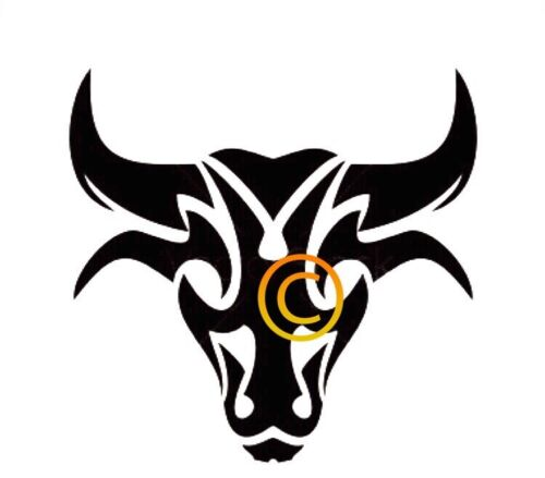 Taurus tribal signo de la plantilla
