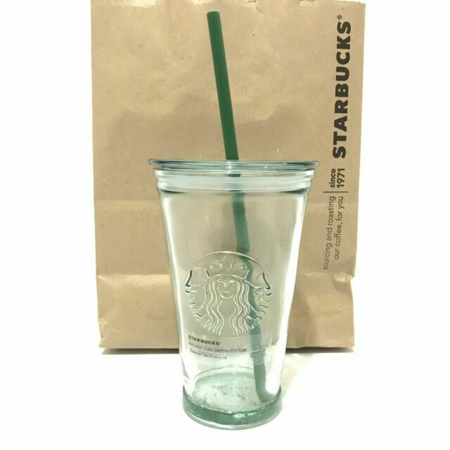 2019 Starbucks Recycled Clear Glass Cold To Go Cup Mug Tumbler 16oz For Sale Online Ebay