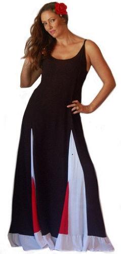 schwarz rot Weiß maxi inset dress sleeveless sexy lagenlook  OS M L XL 1X 2X