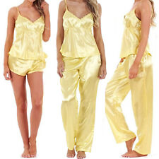 item 1 Ladies Women 3 Piece Satin Pyjama Set Vest Lace Shorts PJ S  Nightwear Nighty -Ladies Women 3 Piece Satin Pyjama Set Vest Lace Shorts  PJ S Nightwear ... fc8a9da59