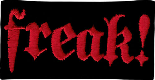 "Freak Patch Red Black Biker Badge Funny Punk Goth Metal 3.75/"" Iron On #20111"
