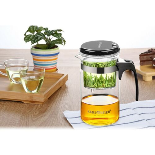 Portable Glass Coffee Teapot Built-in Detachable Stainless Steel Filter