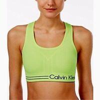 Calvin Klein Performance Medium Impact Sports Bra Yellow/black Size X-small