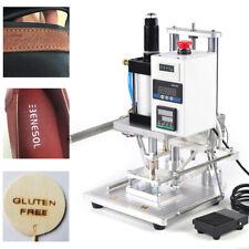 Hot Foil Stamping Machine 550w Air Pneumatic Logo Leather Press Ironing Machine