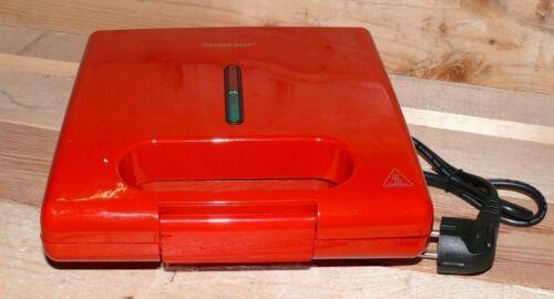 SC SSWMD750A1 Designer Sandwich toaster macker Elektro 750Watt Antihaft Rot