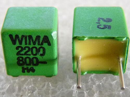 5 capacitors wima fkp2 2200pf 2,2nf 800v 2,5/%