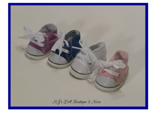 Blue Canvas Tennis Shoes fits American Girl Doll