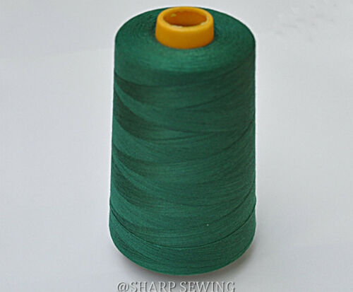 1 SPOOL MANCHO GREEN  100/%  POLYESTER SERGER QUILTING THREAD T27 6000 YARDS #732