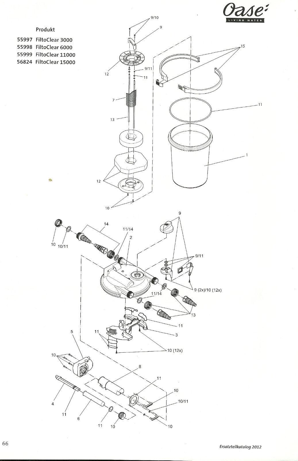 Repuesto oasis recipiente para filtoclear 11000 pieza de recambio original 24462