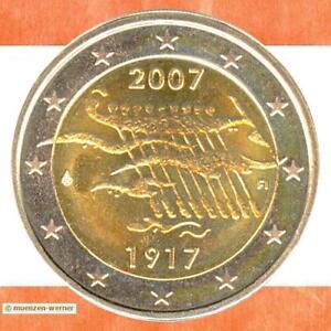 Sondermünzen Finnland 2 Euro Münze 2007 Unabhängigkeit Sondermünze