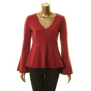ZOE-BY-RACHEL-ZOE-NEW-Women-039-s-Bell-Sleeve-Empire-Waist-Casual-Shirt-Top-TEDO