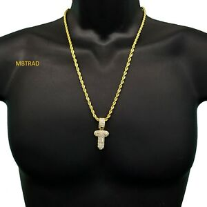 Carta-de-burbuja-inicial-T-personalizada-Chapado-en-Oro-helado-de-Circonio-Cubico-Colgante-Collar