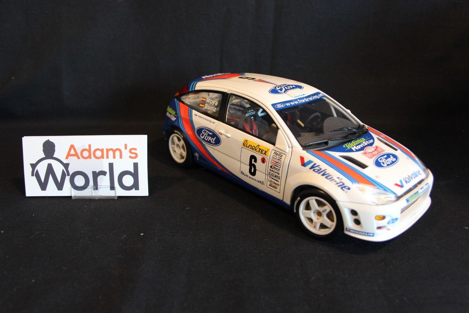 AutoArt Ford Focus RS WRC 2000 1 18  6 Sainz   Moya Rally Monte Carlo (JvdM)