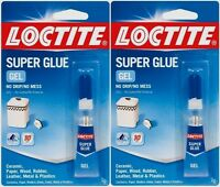 2 2g Loctite Super Glue Gel Clear No Mess Wood Rubber Plastic Metal 235495