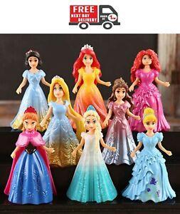8pcs-CUTE-Princess-Action-Figure-Bambola-Abito-modificato-Bambini-Boy-Girl-Giocattolo-Regalo-di
