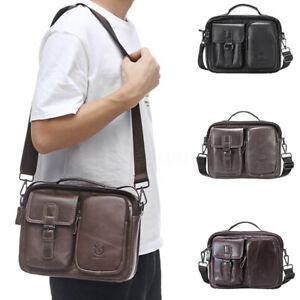 BULLCAPTAIN-Men-Genuine-Leather-Shoulder-Bag-Briefcase-Business-Handbag-Tote