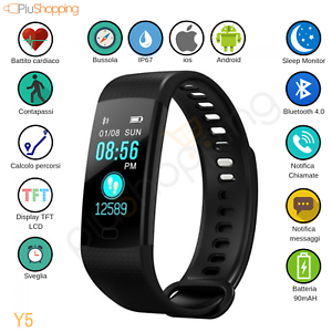 SMARTWATCH-OROLOGIO-CARDIOFREQUENZIMETRO-SMARTBAND-FITNESS-SPORT-PER-ANDROID-IOS