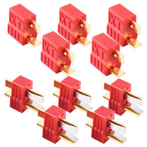5-Pairs-For-RC-LiPo-Battery-ESC-Motor-Deans-Plug-T-Style-Connector-Male-Female