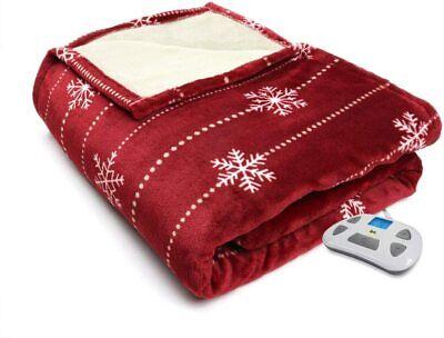 Serta 861058 Silky Plush Heated-with 5 Setting Controller 40 x 70 Chocolate