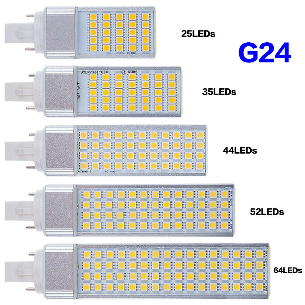 G24 LED Lights Corn Lamp 5050 Horizontal Plug Bulbs 2-pin Lighting 5-13W 85265V