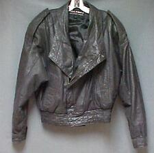 Wilsons Black Leather Motorcycle Jacket (Fully Lined) Men's Size Small