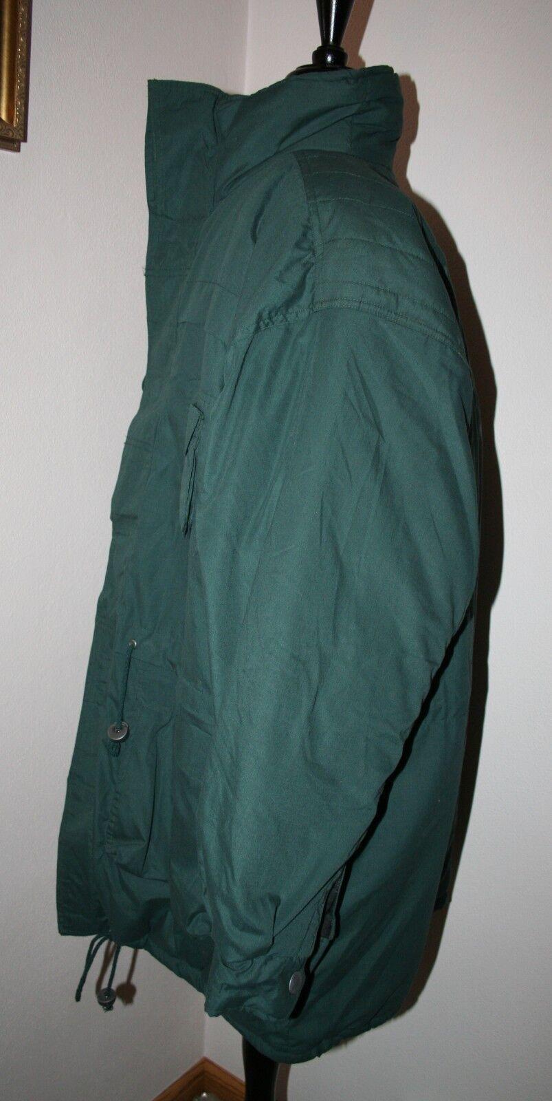 Men's Duffel Coat Parka LARGE Green Threads Unlim… - image 2