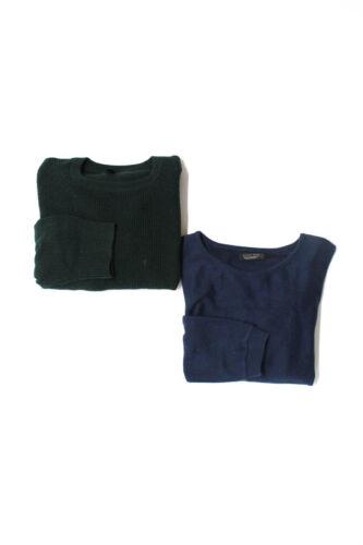 J Crew Zara Mens Waffle Knit Sweaters Green Size L