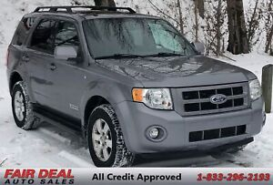 2008 Ford Escape Limited: 4WD/Heated Seats/Sunroof/Fully Loaded