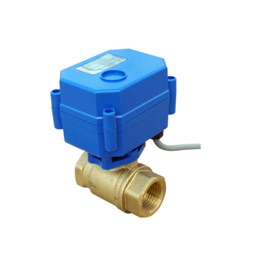 "DC DN15 Motorized Ball Valve CR-05 12V 2//1/"" Electrical Valve  5 Wire 145PSI UK"