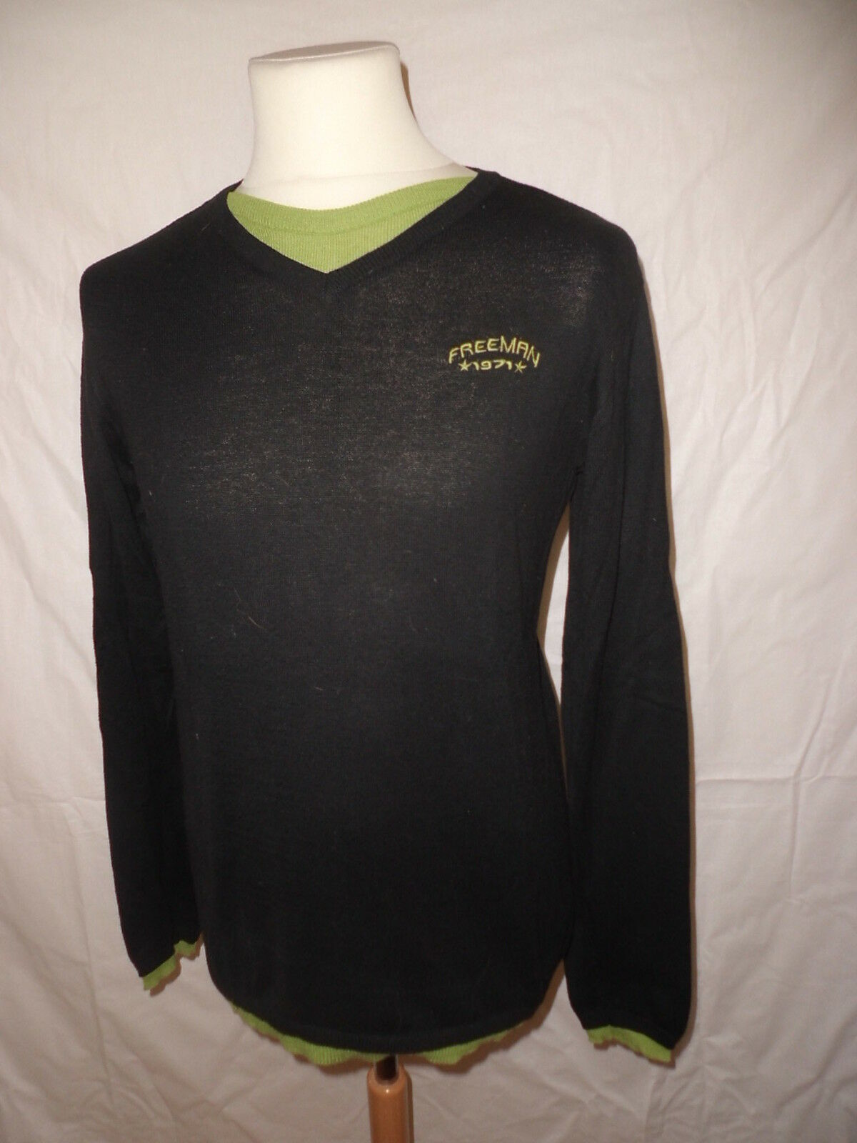 Suéter ligero FREEMAN T. LLEVAR size M black con -68%