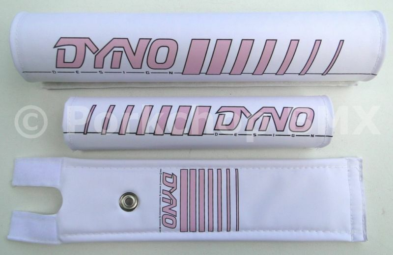 NEW DYNO old school BMX bicycle padset pads - EARLY LOGO - PINK MADE IN USA