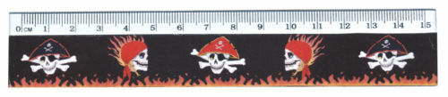 Kindergeburtstag Mitgebsel 2 Stück Piraten Lineal 15 cm