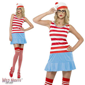 Image is loading FANCY-DRESS-COSTUME-LADIES-WHERE-039-S-WALLY-  sc 1 st  eBay : waldo and wenda costumes  - Germanpascual.Com