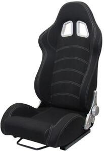 Sportsitz-Schalensitz-Tenzo-R-Stoff-schwarz-mit-Laufschienen