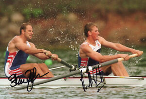 Certified Original Autographs Sir Steve Redgrave & Sir Matthew Pinsent Signed 16x12 Photo Autograph Display