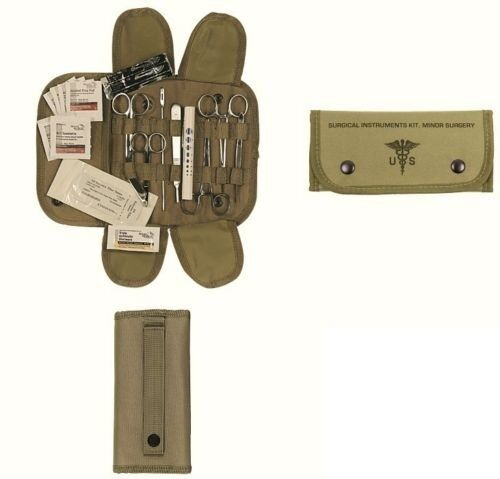 19Pc Coyote Brown First Aid Surgical Kit Military Molle Pouch Survival Medical