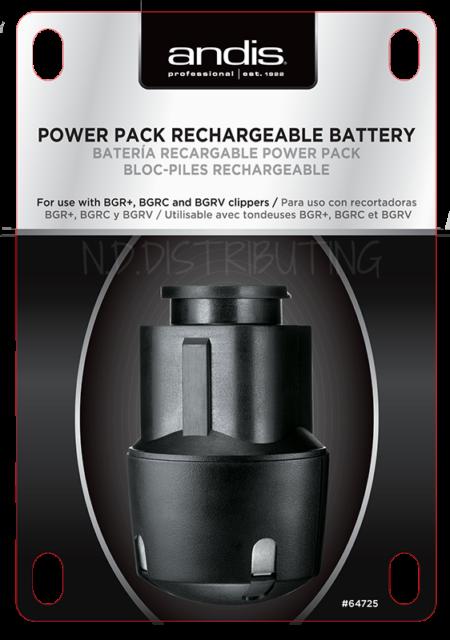 Andis Bgr Black Battery Pack 64725 Bgrc Clipper