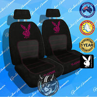 Hot Pink Leopard Print Playboy Car Seat Covers Limited Edition, Airbag Safe