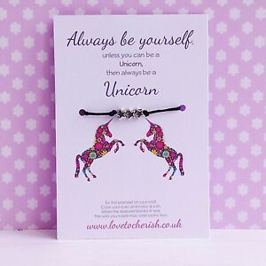 Always-Be-Yourself-Unless-You-Can-Be-A-Unicorn-Star-Charms-Wish-Bracelet