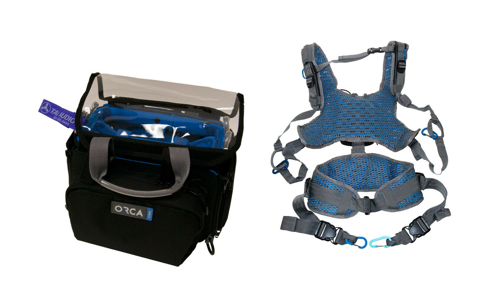 Orca OR-28 Mini Audio Bag w OR-40 Harness (Zoom F4 F8, SD MixPre-3 6)