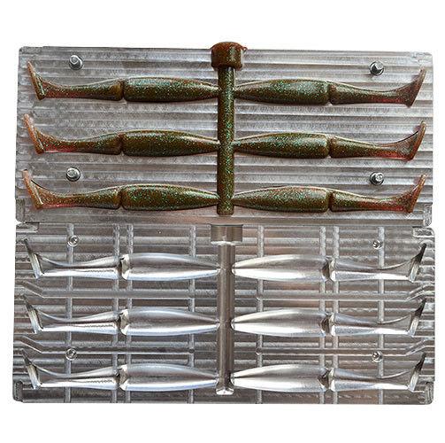 Hágalo usted mismo CNC Aluminio Plástico Suave Señuelo Carnada Molde cavidad V238 6 3,75 in 95 mm