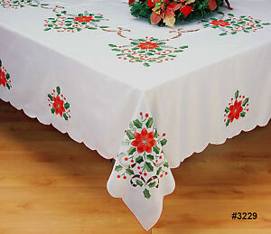 Image Is Loading Holiday Christmas Poinsettia Tablecloth  68x84 034 68x104 034