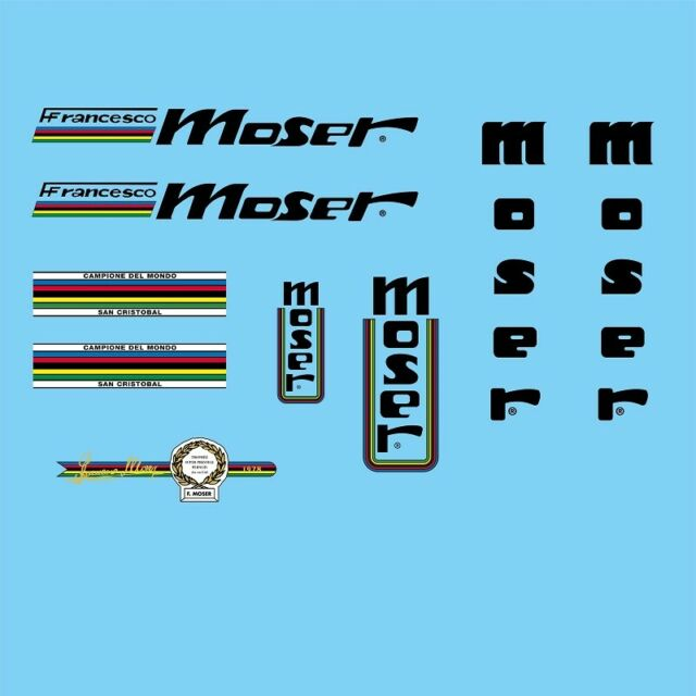 Francesco Moser bicycle decals Sticker N.4