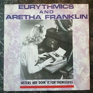 EURYTHMICS-AND-ARETHA-FRANKLIN-Sisters-Are-Doin-It-For-Themselves-12-034-VINYL-UK