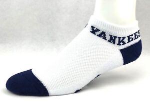 For-Bare-Feet-034-Money-034-No-Show-Ankle-White-Socks-New-York-Yankees