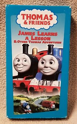 THOMAS FRIENDS James Learns A Lesson TANK ENGINE TRAIN VHS Video Ringo Starr