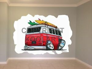 Huge-Koolart-Cartoon-Vw-Camper-Van-Wall-Sticker-Poster-Mural-1942