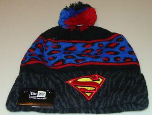 2ea4763ca5c Superman DC Comics Cap Hat New Era Beanie Toque Polar Print Spots ...