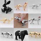 1PC Hot CU Cool Punk 3D Animal Pierced Stud Earrings AE Crystal Ear Cuff Jewelry
