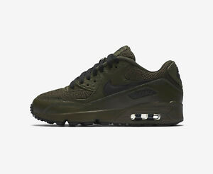 Details about Nike Air Max 90 Mesh SE GS Running Shoes Size 5Y 7Y Green Black AA0570 300